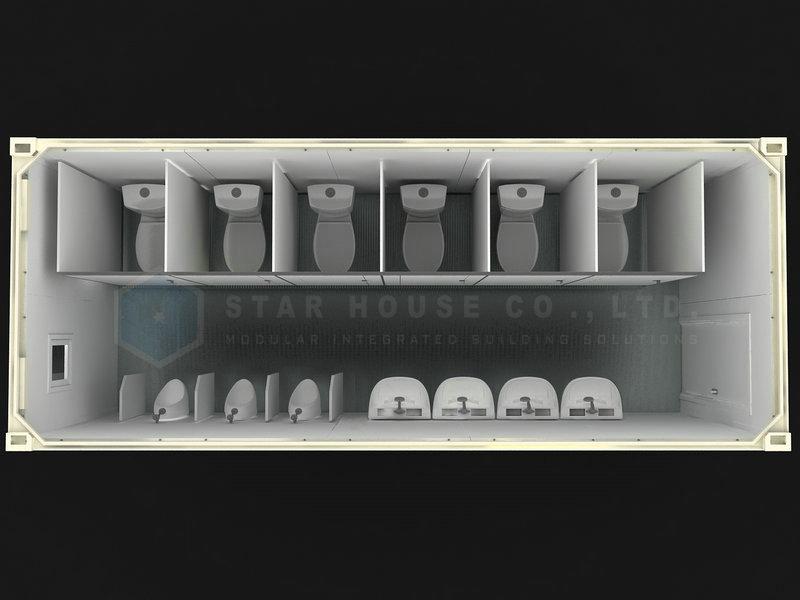 男性トイレユニット